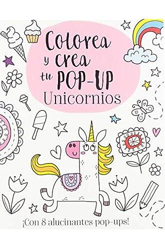 Descargar gratis Colorea y crea tu pop-up. Unicornios de Elizabeth Golding