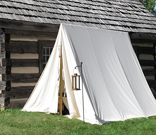 A-framed-Tent-ANGLO-Saxon-Reenactment-CIVIL-WAR-tarp-TARPAULIN-pre-medival-canvas-for-Living-history-bell-frame-knight