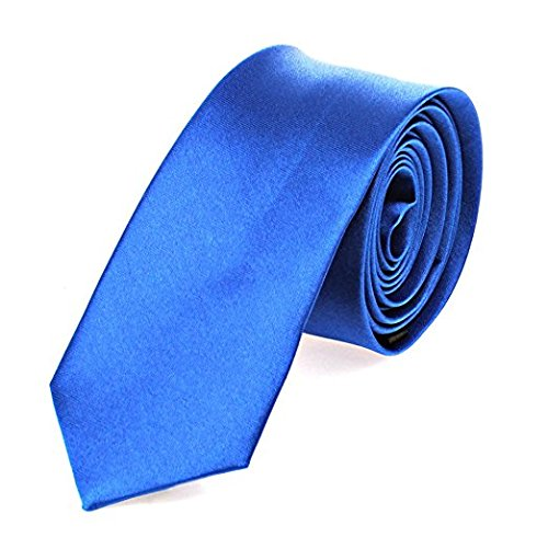 OM3™ K-11 TRENDY SKINNY TIE / Modische schmale dünne Krawatte - ROYALBLAU - Party Business Schlips Handmade Smoking Anzug Unisex (Tie Skinny Blaue)