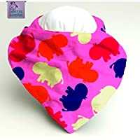Babero bandana Hipopotamos. Para bebés, niños y adultos con necesidades especiales. P_75 ***Envío gratuito a España***
