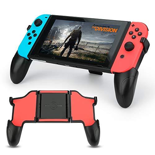 Verstellbarer Handgriff (BestFire Nintendo Switch Grip Multifunktions-Handgriffe, verstellbare Handgriffe, bequemer Griff, faltbar, für Nintendo Switch Joy Con (schwarz))