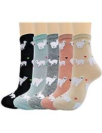 Merclix Calcetines Mujer Algodon, Calcetines Divertidos Con Dibujos, Regalos Originales Para Mujer Niñas