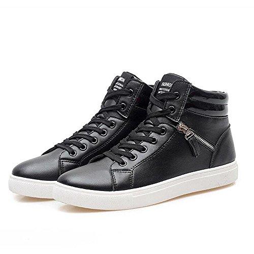 Mr. LQ - Beiläufige Segeltuch-Skateboard-Schuhe der Männer Black