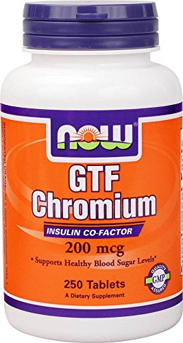 NOW Foods - GTF Chromium Yeast-Free 200 mcg. - 250 Tablets Test