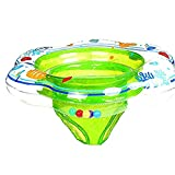 kiss me PVC schwimmsitz baby 0-12 monate Kinder Schwimmender Ring baby schwimmsitz Aufblasbarer Baby Schwimmring für Baby gedruckt (Green)