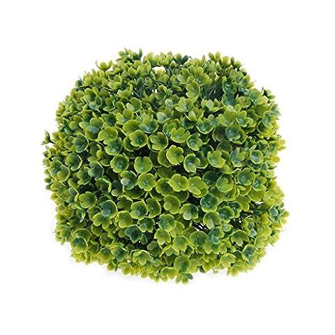Haorw Artificial Plastic Aquatic Plant Grass Ball Fish Tank Aquarium Ornament Decor (Green)