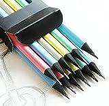 jileSM Zeichnung Bleistift Set Kohle Bleistift Graphit Bleistift mit Radiergummi Set Tragetasche für Kinder Anfänger für das Kunstwerkzeug