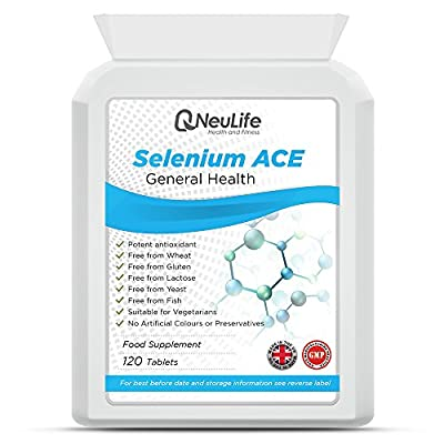 Selenium 200mcg and Vitamins A,C,E - 120 Tablets - by Neulife Health and Fitness by Neulife Health and Fitness