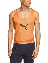 PUMA Trainingsleibchen Bib - Chaleco de entrenamiento para fútbol, color naranja, talla XL