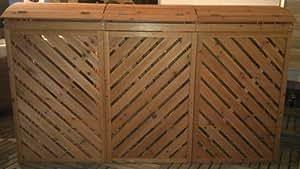 Benedomi Rückwand für 3er Mülltonnenbox