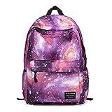 Zaino galassia sportivo, Lemonda zaino scuola con grande capacità per laptop di 14 inch, zaino casuale e fashion, 42 x 37 x 17cm (Viola)