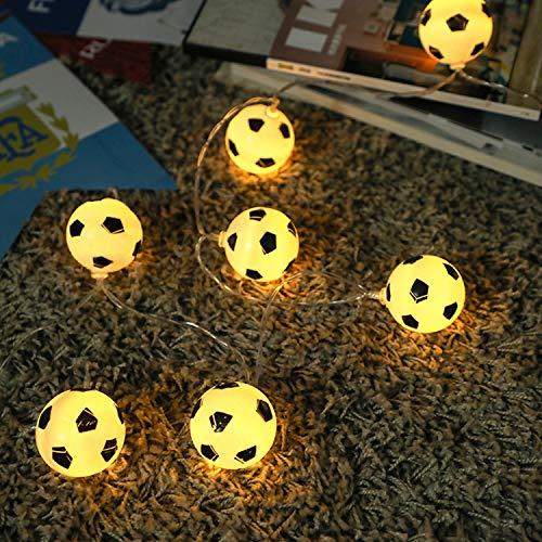 XCXDX Fußball Dekor String Licht Warmweiß USB-Powered Für Thema Party, Zimmer, Bar, 3m 20LED (Fußball-party-thema Dekor)