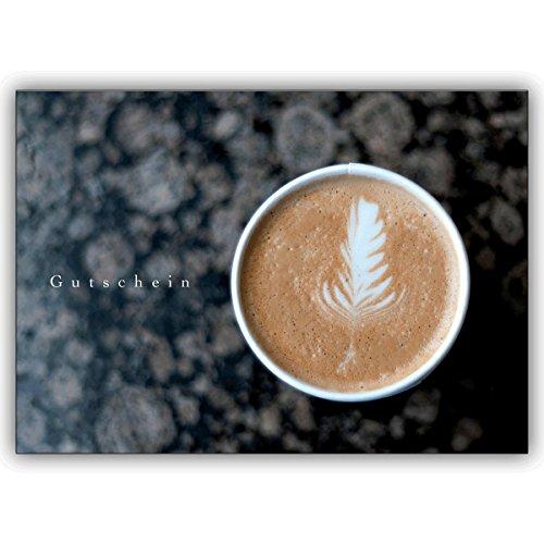 1 Gutschein Karte: Edler Blanko Gutschein für einen Kaffee Klatsch • lustige Grußkarte mit Umschlag, hochwertig und schön
