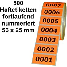 dreifach nummeriert 3.000 Bons selbstklebend jede Zahl dreimal vorhanden 10 x 22 mm fortlaufend Herma 4807 Nummernetiketten braun Zahlen von 000-999