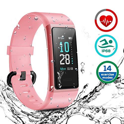 HOMVILLA Fitness Tracker, Smartwatch Activity Tracker Sports Smart Band Impermeabile IP68 Polsino Bluetooth con Monitor della...