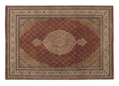 PARISA MAHI echter klassischer Orientteppich handgeknüpft in rot-creme, Größe: 250x300 cm -