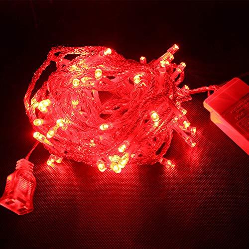 Togelei 20M 100 LED Weihnachten im/Garten Party Party Hochzeit LED String Fairy Lights Weihnachtsbeleuchtung Wasserdicht LED Kupferdraht Warmweiß für Innen außen Schlafzimmer