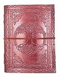 Kooly Zen - Carnet, bloc notes, journal, livre, Cuir Véritable, Vintage, Arbre De Vie celtique 15cm X 20cm, papier premium