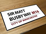 Artylicious Sir Matt Busby Way Manchester United Street Sign Bar Runner Counter Mat