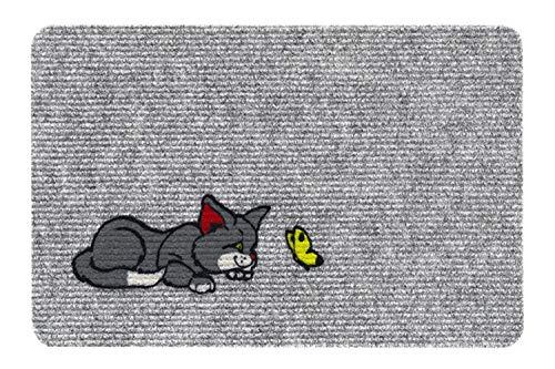 Nadelfilzmatten Motiv Fussmatte - Teppich - Sauberlaufmatte - Fußabstreifer - Türmatte - Fußmatte - Schmutzfangmatte - verschiedene Designs - Größe 40 x 60 cm (Cat - Katze)