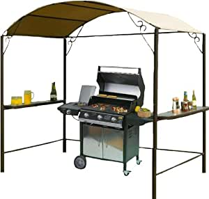 1 5 x 2 5 m tonnelle barbecue inox jardin. Black Bedroom Furniture Sets. Home Design Ideas