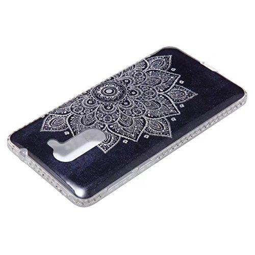 Bling Sparkle Glitter Rhinestone Resin Diamant Schützende Rückseite Cover Case Soft TPU Shell Stoßfänger [Shock Absorbtion] für Huawei Hornor 6X GR5 2017 ( Color : C ) E