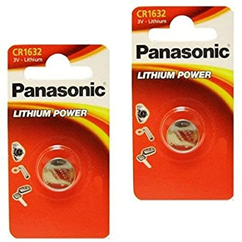 Panasonic 1632 CR1632 Lot de 2 piles lithium 3V
