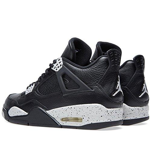 Nike Herren Air Jordan 4 Retro Ls Basketballschuhe, Schwarz Schwarz / Grau (Schwarz / Tech Grau-Schwarz)