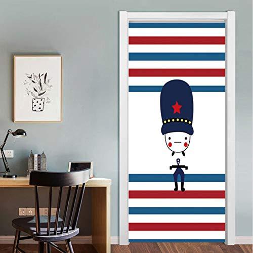 Pandaboom 3d cartoon boy door sticker murale autoadesivo adesivo per camera dei bambini camera da letto armadio porta rinnovare decalcomania 95x215cm
