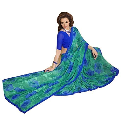 Jay Sares Elegent Designer Saree with abstract and floral prints - Jcsari3009d407b