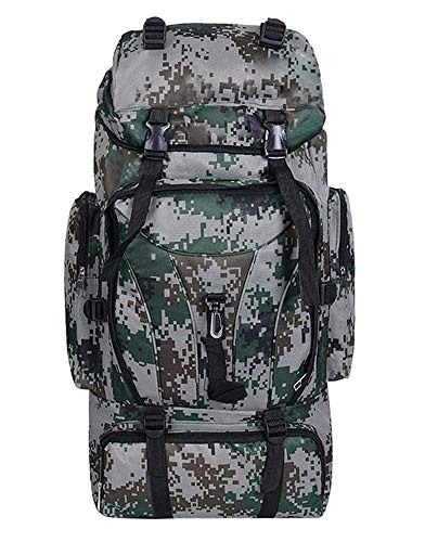 Zaino militare tattico - multifunzione zaino sportivo molle unisex campeggio alpinismo escursionismo viaggio trekking sport, verde, 70l