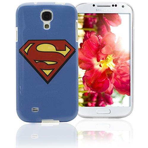 Phonix DC Comics original Superman Logo Case mit Displayschutzfolie für Samsung Galaxy S4 (Zubehör Superman)