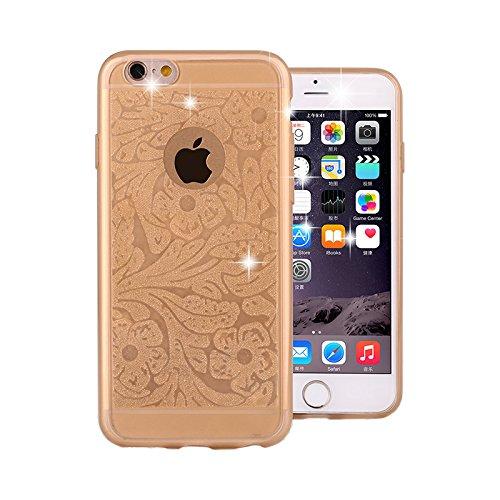 Handyhülle Paisley Mandala Glitzer Motiv Case für Pink Apple IPhone 5/5S Gold