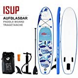 COSTWAY Paddelboard 305 x 80 x 15cm | Surfboard bis 200 kg | Sup-Board mit Pumpe | Paddelbrett mit Alu-Paddel | Stand up Board Set