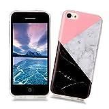 Coque iPhone 5C XiaoXiMi Etui en Marbre Texture Housse de Protection Soft TPU...