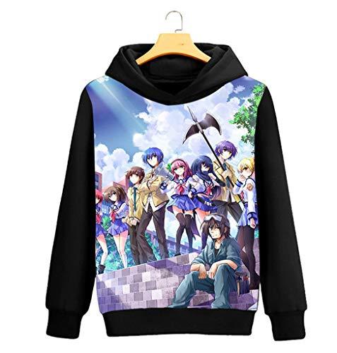 Anime Kapuzenpullover Sweatshirt Cosplay Kostüm Hoodie Mantel Pulli Sweater Schwarz 9 L ()
