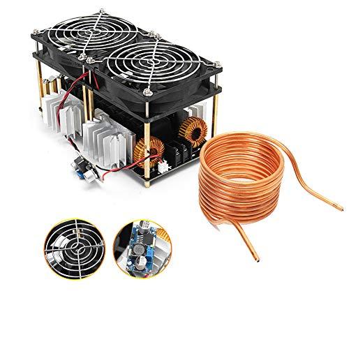 ZVS - Placa calefactora de inducción, módulo 12-48 V, con bobina Tesla y  ventilador
