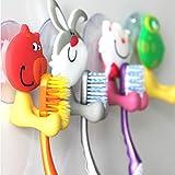 HuaYang Kreativ Cartoon-Tier Zahnbürstenhalter Toiletten-Sauger Schalen-Silikon-Sauger (Muster: Katze) - 6