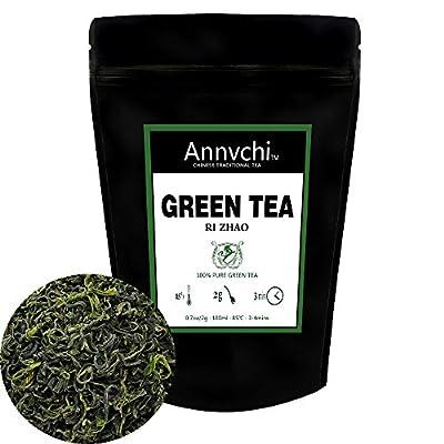 Thé Vert Vrac (50 Tasses), Thé Vert Chinois En Feuilles Naturel 100% Pur, Thé Vert Nature au Antioxtdants Puissants, 100g