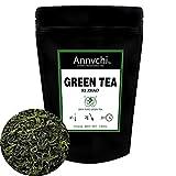 Hojas de Té Verde Chino (50 tazas), Té de Ddesintoxicación 100% Natural, Poderosos Antioxidantes, Cosecha Fresca de, Hojas Sueltas de Té Verde, 100g