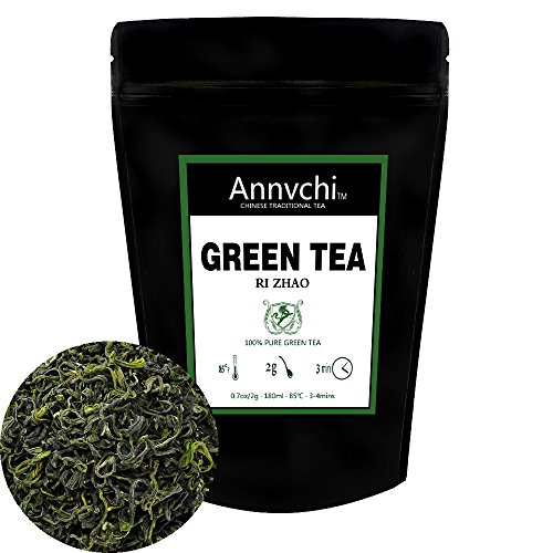 Chinese Green Tea Leaves (50 cups), 100% Natural Detox Tea, Powerful Antioxidants, Fresh Harvest, Loose Green Tea Leaves, 100g