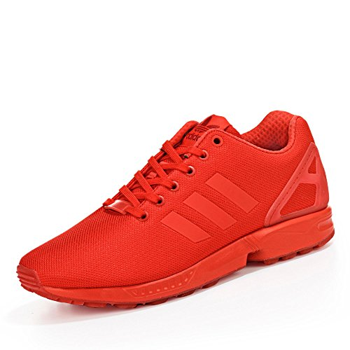 adidas Zx Flux, Chaussures de Running Entrainement Homme Rouge