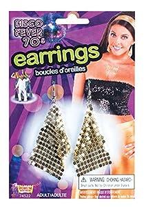 Forum Novelties 74522 - Pendientes de diamante (talla única), color dorado