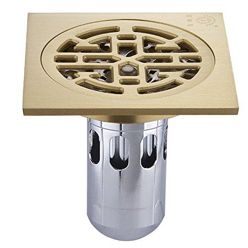 MIAORUI tous les drains de plancher l'odeur de cuivre, la base des drains de plancher, salle de bain, le cuivre, l'odeur des preuves, d'imitation,un
