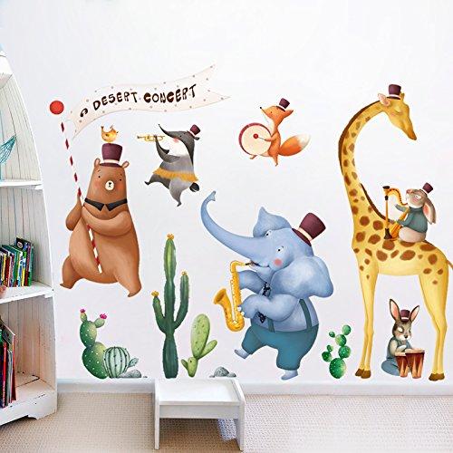 Aha Yo-Cartoon Der Band Wand Aufkleber Kindergartenkinder Raum Schlafzimmer, Wohnzimmer Sofa Hintergrund Wand Dekorative Wand Diy