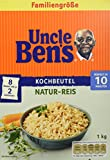 Uncle Ben's Basmati-Reis Kochbeutel, 4er Pack (4 x 1kg)