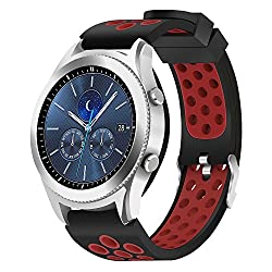 Samsung Gear S3 Fromtier Classic Bands Hagibis Silicone Sports Strap For Samsung Gear S3 Frontier Or Samsung Gear S3 Classic (Red)