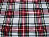 Scottish Tartan FB.ROT/white-fabric-per metro
