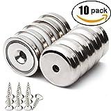 Neodym-Disc-Senkloch magnete Seltenerdmagnete Mit 10 Schrauben 10 Stück 1.26