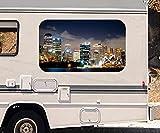 3D Autoaufkleber Skyline Sidney Stadt Australien Wohnmobil Auto KFZ Fenster Motorhaube Sticker Aufkleber 21A414, Größe 3D sticker:ca. 45cmx27cm